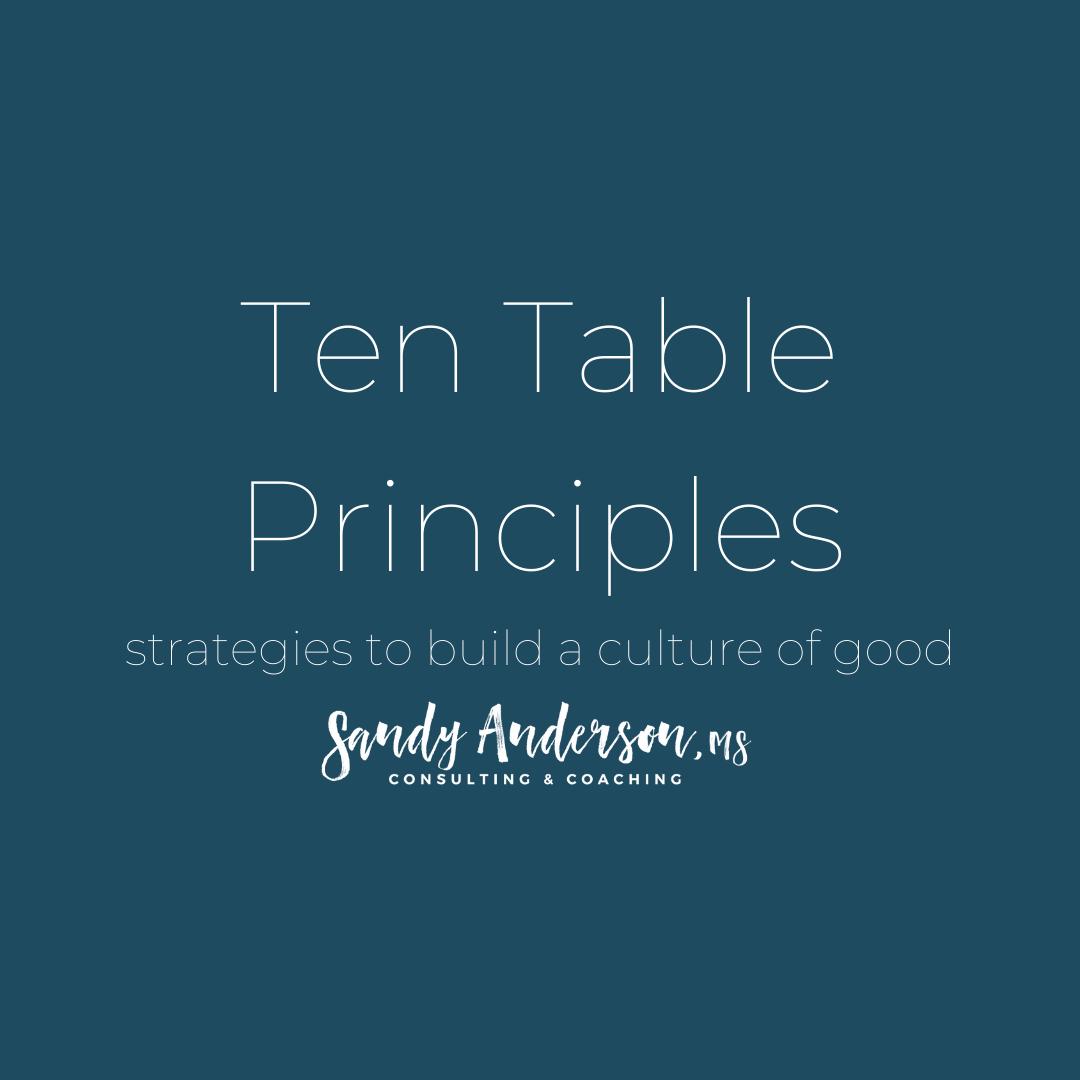 Table Principles